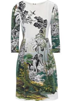 Alberta Ferretti Woman Printed Silk Mini Dress Multicolor