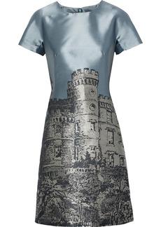 Alberta Ferretti Woman Satin-jacquard Mini Dress Gray