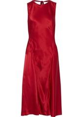 Alberta Ferretti Woman Silk-satin Crepe Dress Brick