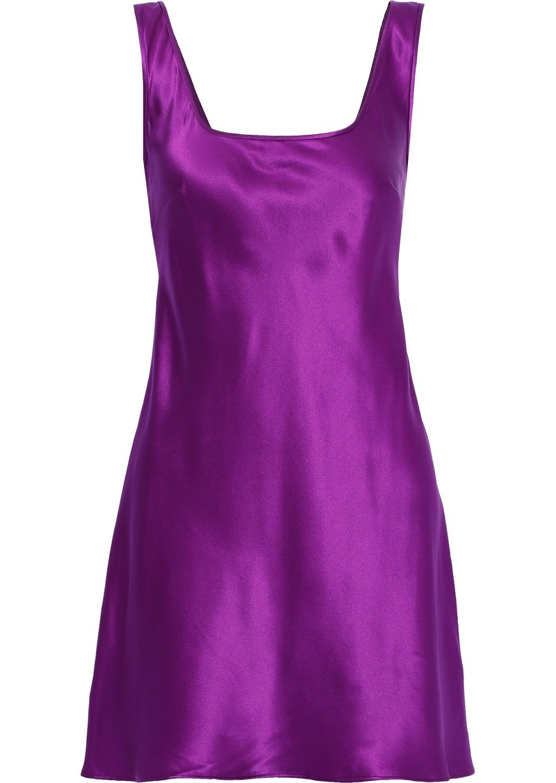 Alberta Ferretti Woman Silk-satin Mini Dress Purple