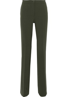 Alberta Ferretti Woman Stretch-twill Straight-leg Pants Army Green