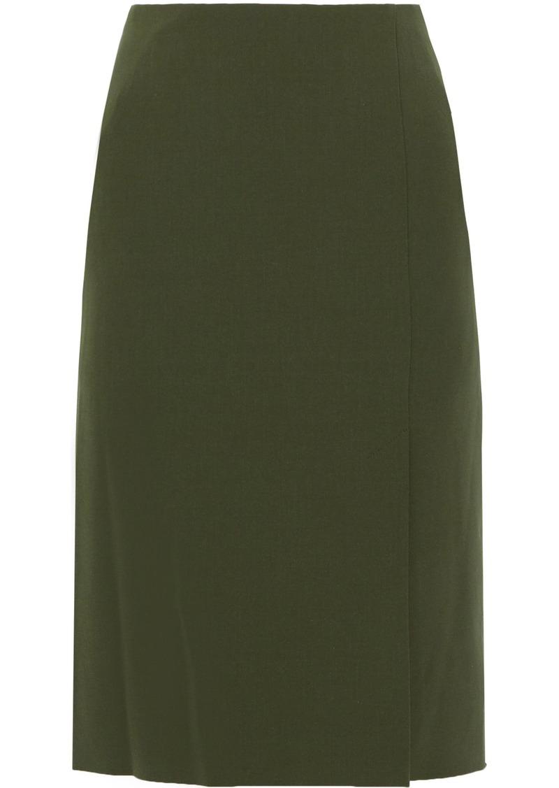 Alberta Ferretti Woman Twill Pencil Skirt Army Green
