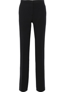 Alberta Ferretti Woman Twill Straight-leg Pants Black