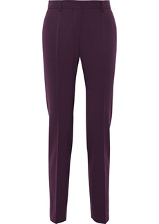 Alberta Ferretti Woman Twill Slim-leg Pants Grape