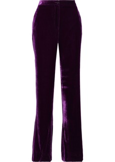 Alberta Ferretti Woman Velvet Bootcut Pants Purple