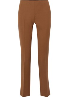 Alberta Ferretti Woman Wool-blend Slim-leg Pants Camel