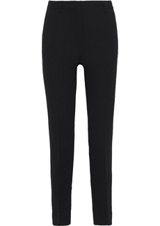 Alberta Ferretti Woman Wool-crepe Slim-leg Pants Black