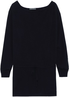 Alberta Ferretti Woman Wool Silk And Cashmere-blend Sweater Midnight Blue