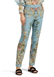 Alberta Ferretti Women's Floral Cotton-Blend Slim Trousers