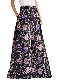 Alberta Ferretti Women's Floral Jacquard A-Line Maxi Skirt