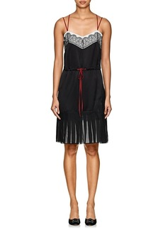 Alberta Ferretti Women's Floral-Lace-Embellished Silk Minidress