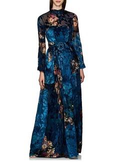 Alberta Ferretti Women's Floral Organza & Velvet Devoré Gown
