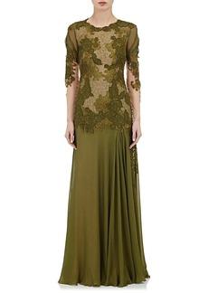 Alberta Ferretti Women's Lace & Chiffon Gown