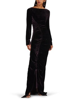 Alberta Ferretti Women's Ruched Velvet Gown