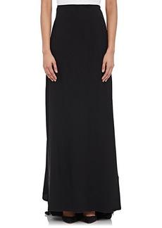 Alberta Ferretti Women's Satin-Back Crepe Long Skirt