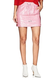 Alberta Ferretti Women's Sequin-Embellished Track Miniskirt