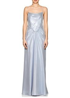 Alberta Ferretti Women's Silk-Blend Lamé Gown