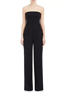 Alberta Ferretti Women's Stretch Virgin Wool-Blend Wide-Leg Tuxedo Jumpsuit