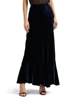 Alberta Ferretti Women's Velvet Maxi Skirt