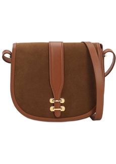Alberta Ferretti Albi Suede Shoulder Bag