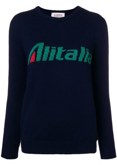 Alberta Ferretti Alitalia intarsia jumper