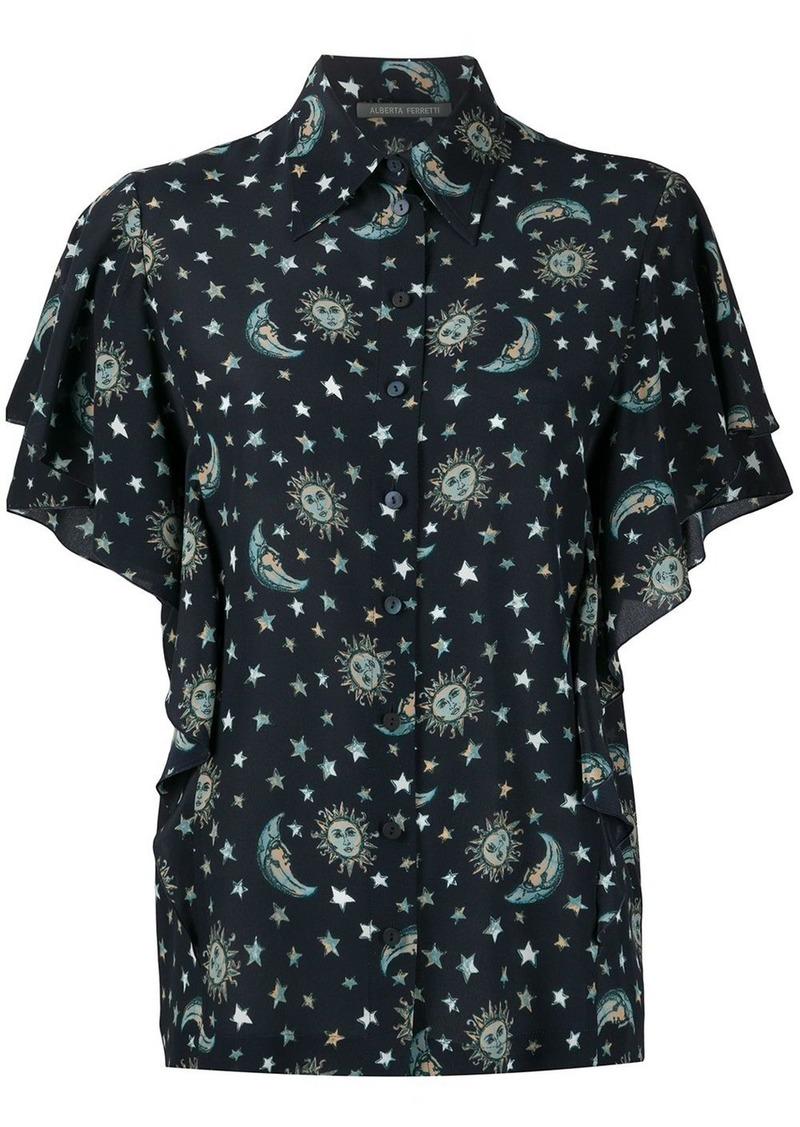 Alberta Ferretti Astro-print silk shirt