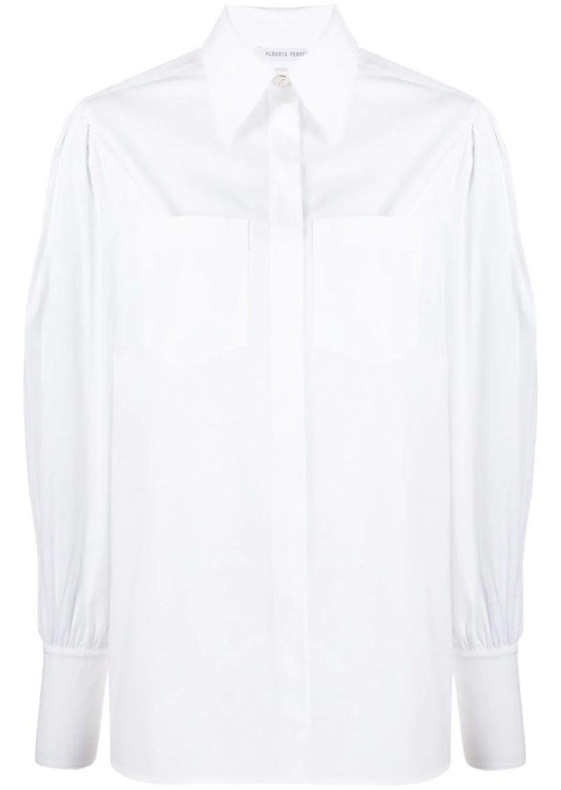 Alberta Ferretti balloon-sleeved shirt