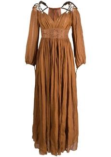 Alberta Ferretti bead-embellished maxi dress