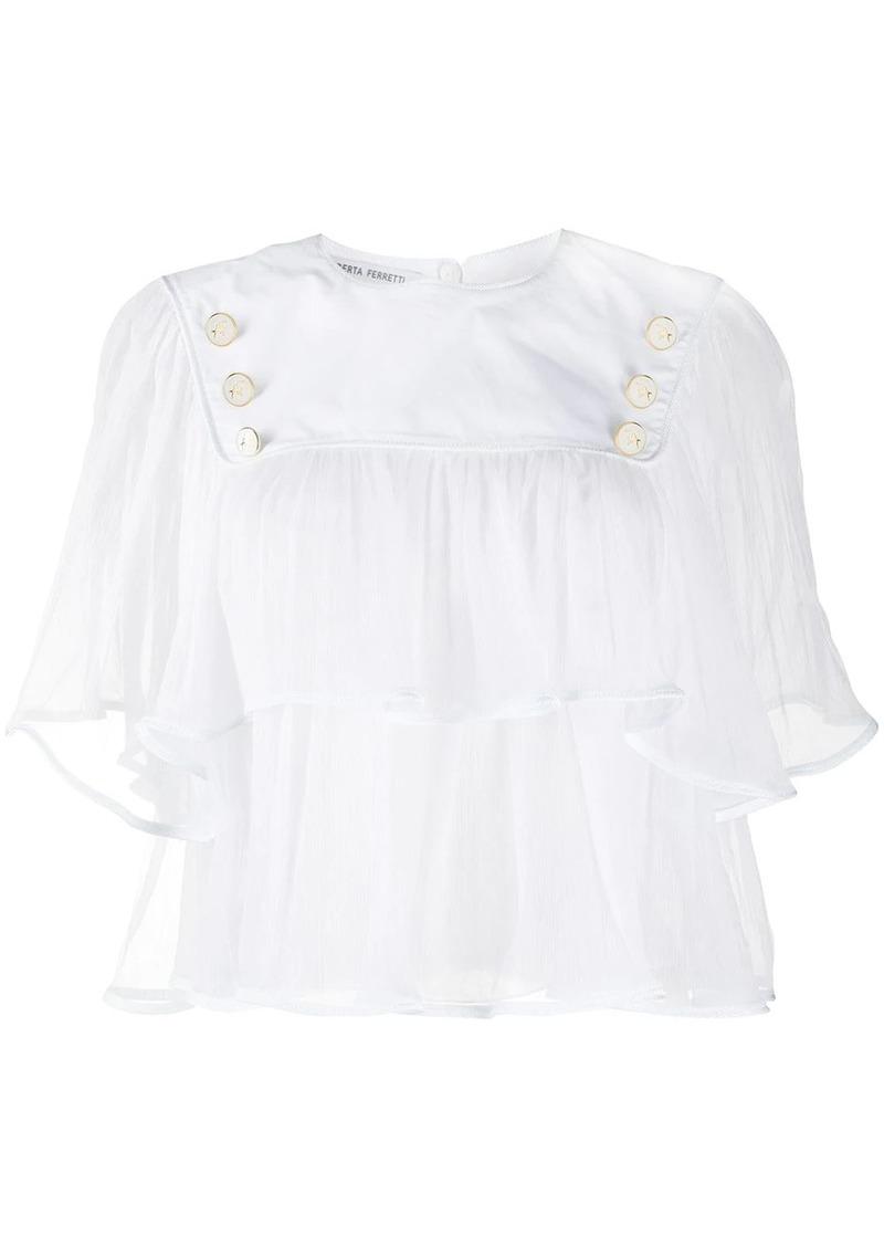 Alberta Ferretti button-detail tiered blouse