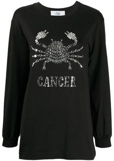 Alberta Ferretti Cancer embellished long sleeve top