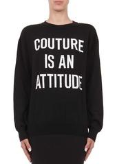 Alberta Ferretti Capsule Intarsia-Knit Couture Virgin Wool Sweater
