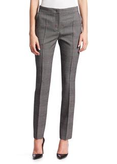 Alberta Ferretti Check Skinny Trousers