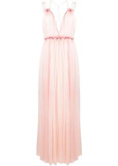 Alberta Ferretti chiffon V-neck dress