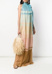 Alberta Ferretti colour gradient maxi dress