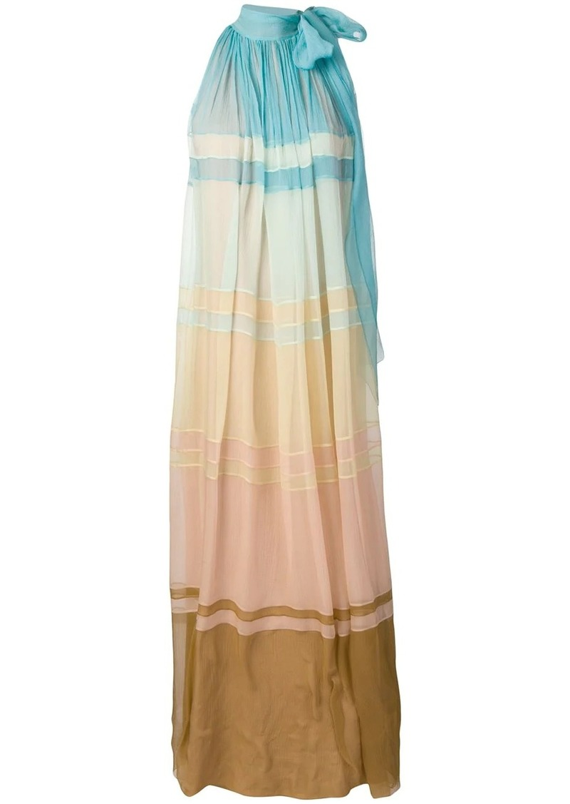 Alberta Ferretti colour gradient maxi dress