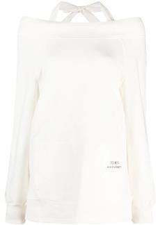 Alberta Ferretti cotton-blend off-shoulder sweatshirt