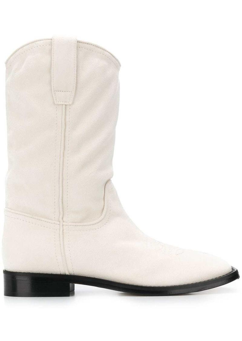 Alberta Ferretti cowboy-style ankle boots