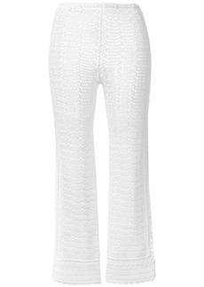 Alberta Ferretti crochet cropped trousers