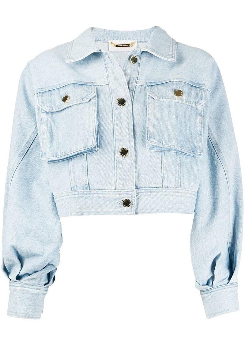 Alberta Ferretti cropped denim jacket