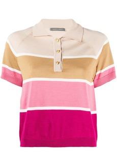 Alberta Ferretti cropped striped polo top