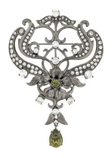 Alberta Ferretti Crystal embellished brooch
