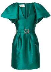 Alberta Ferretti crystal embellished mikado dress