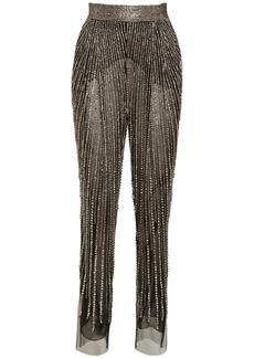 Alberta Ferretti Crystal Embellished Tulle Pants