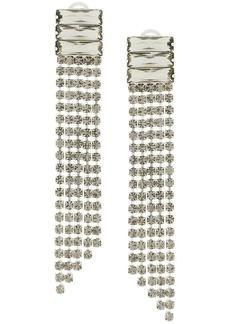 Alberta Ferretti crystal waterfall earrings