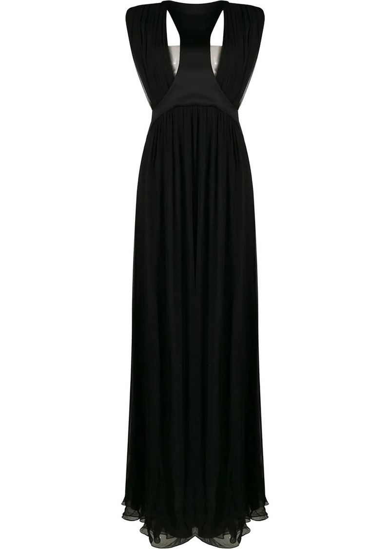 Alberta Ferretti cut-out detail evening dress