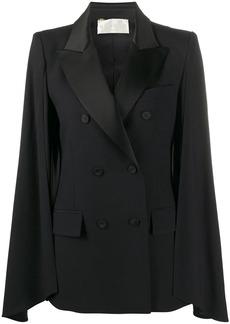 Alberta Ferretti double breasted cape jacket