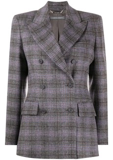 Alberta Ferretti double breasted check pattern blazer