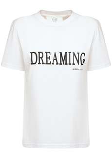 Alberta Ferretti Dreaming Cotton Jersey Regular  T-shirt
