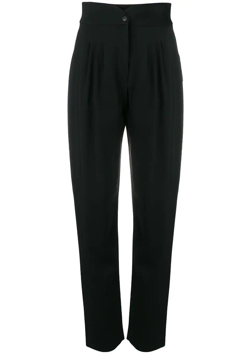Alberta Ferretti egg shaped high waisted trousers