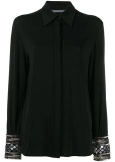 Alberta Ferretti embellished cuff shirt